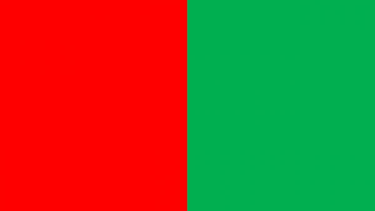 Stem rødt og grønt